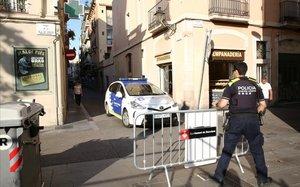 Primeras medidas de prevención este lunes en Gràcia.