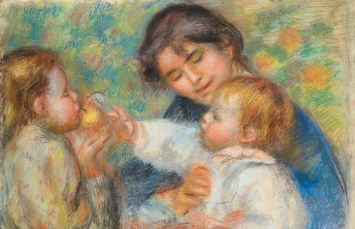 'L'enfant à la pomme ouGabrielle, Jean Renoir et une fillette', de Pierre-Auguste Renoir (1895-1896).