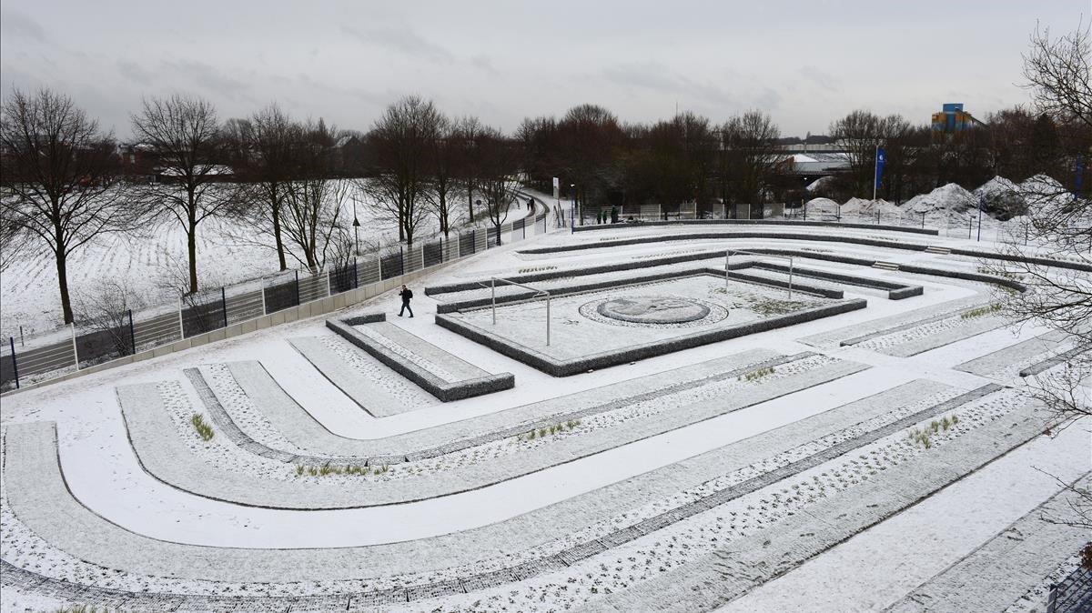 Una imagen invernal del camposanto del Schalke 04, en Gelsenkirchen, una ciudad situada en el oeste de Alemania.