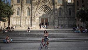 La plaza de la Catedral, casi desierta, esta semana.
