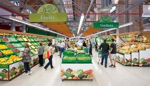 Interior del Mercadona del Mercat de Sants.