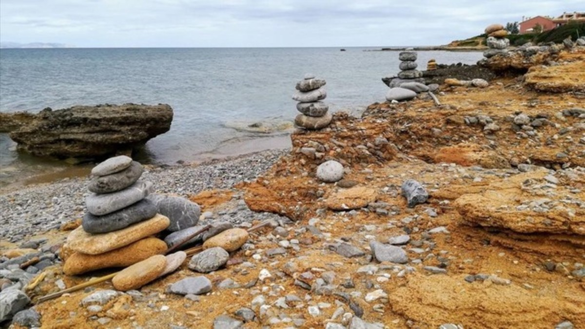 La huella del absueso en una playa menorquina.