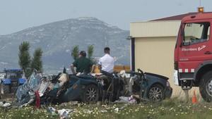 Accidente mortal en la TV-3405 ocurrido el 22 de mayo del pasado año.