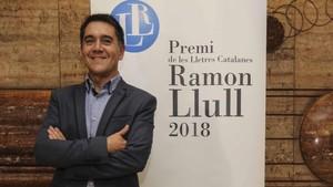 Marti Gironell, ganador del XXXVIII Premio de les Lletres Catalanes Ramon Llull.