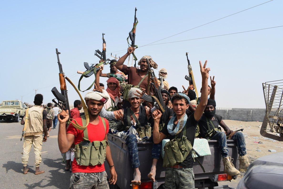 HUDEIDAYEMEN- Fuerzas gubernamentales yemenies participan en toma de posiciones en la ciudad portuaria de Al Hudeidaen el oeste del Yemen EFEStringer