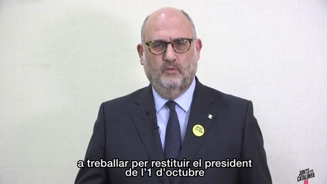 """JxCat demana a ERC i la CUP que treballin per """"restituir"""" Puigdemont"""