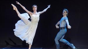 SvetlanaZajarova, durante un momento de su actuación el lunes en el Festival de Peralada.