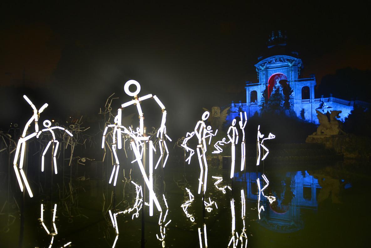 Actuaciön de Groupe Laps Keyframes en el Parc de la Ciutadella.