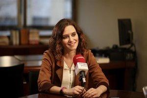 La portavoz del PP de Madrid y candidata de este partido a la Comunidad, Isabel Díaz Ayuso.