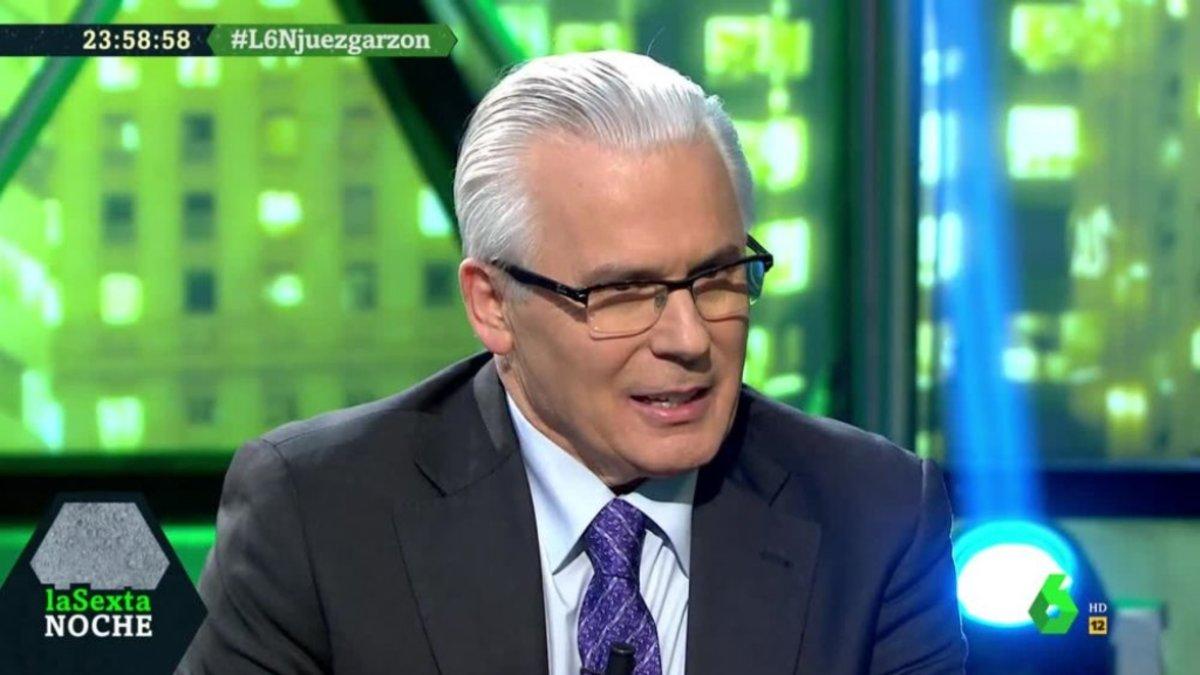 Baltasar Garzón en 'laSexta noche'.