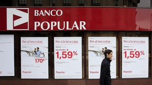 Una oficina del Banco Popular en Barcelona.