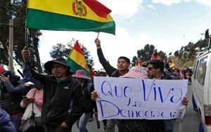 Protestas en Bolivia por las elecciones presidenciales.