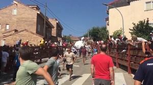 Imagen del 'boloencierro' celebrado este año en Mataelpino.