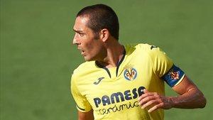 Bruno Soriano, durante el partido contra el Valencia en La Cerámica.