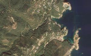 La cala de Aiguafreda, en Begur, en una vista de Google Maps.