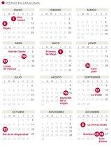 Calendari laboral del 2020 a Catalunya