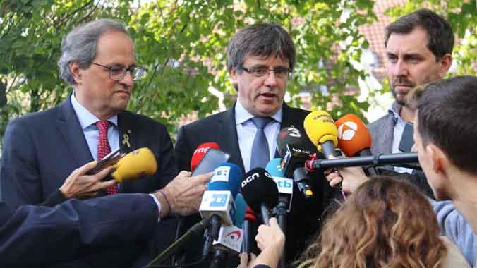 Carles Puigdemont anuncia el Consell de la República para el 30 de octubre en el Palau de la Generalitat