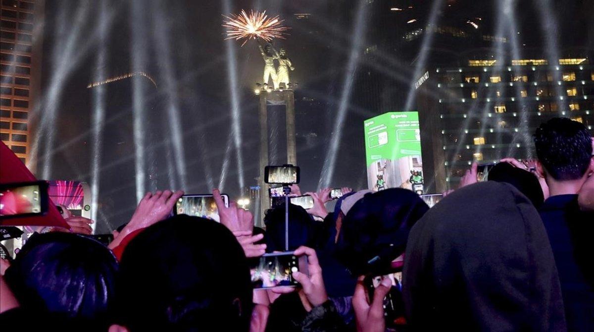 Celebraciones en Yakarta (Indonesia).
