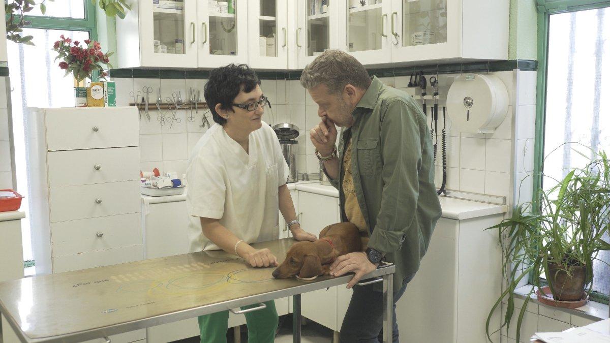 Chicote, con Eli, en el primer programa de 'Auténticos'.