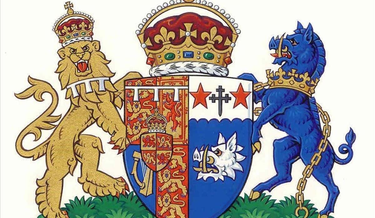 Escudo de armas de la duquesa de Cornualles