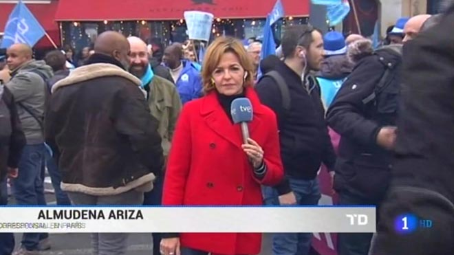 Almudena Ariza, desde París ('TD', TVE-1).