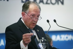 GRA361 MADRID 16 01 2017 - El director del Centro Nacional de Inteligencia CNI general Felix Sanz Roldan durante la conferencia organizada por el diario La Razon que ha pronunciado hoy en Madrid EFE Zipi