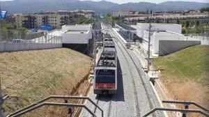 Convoy de los Ferrocarrils en Sant Cugat.
