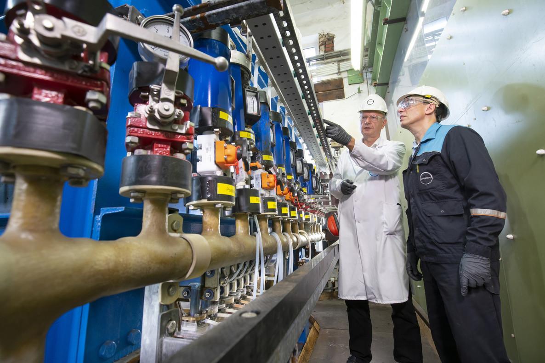 Planta piloto de producción de cloro en Leverkusen de Covestro.