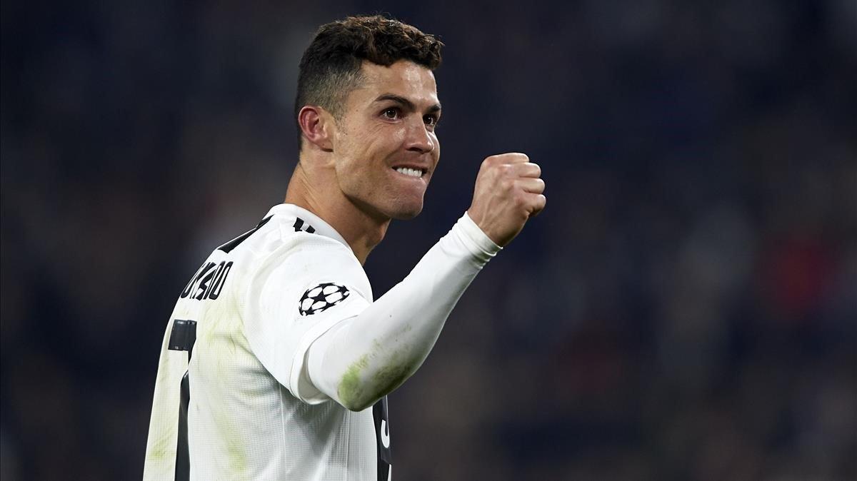 Cristiano Ronaldo celebra la victoria sobre el Atlético en Champions.