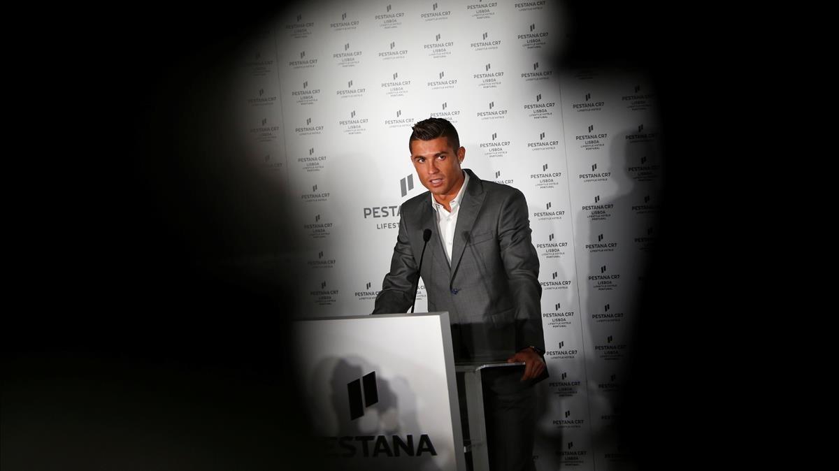 Cristiano Ronaldo, durante la inauguración de un hotel en Lisboa,