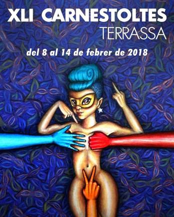 El cartel de los Carnavales de Terrassa antes de sercensurado.