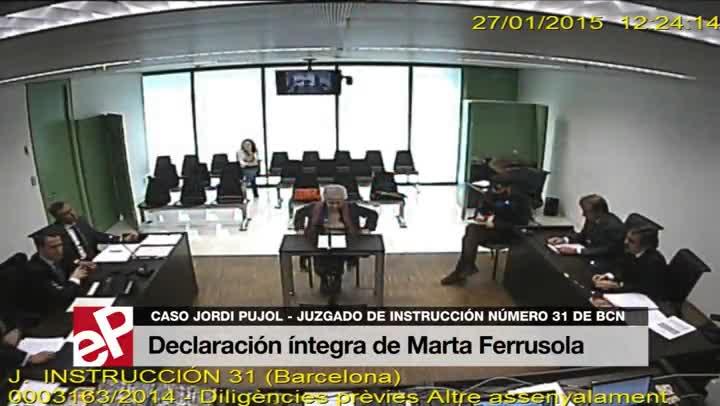 Declaración íntegra de Marta Ferrusola i Lladós.
