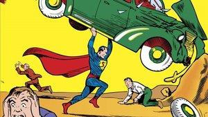 Detalle de la primera portada de 'Action Comics #1', donde debutaba Superman, en 1938.