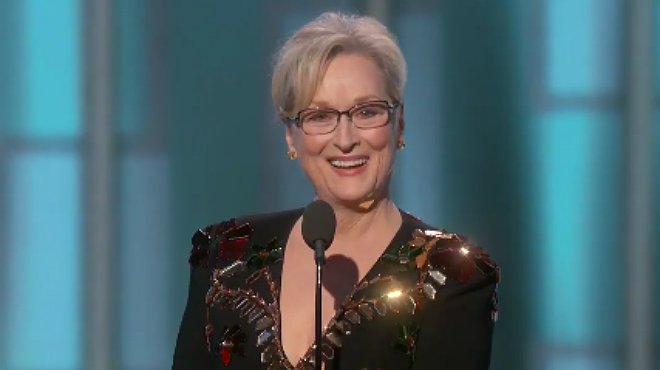 Meryl Streep li va dedicar diversos dards a Donald Trump sense anomenar-lo ni una vegada en el seu discurs dels Globus d'Or 2017.