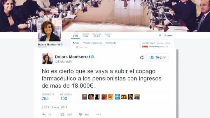Dolors Montserrat se desdice en Twitter de su anuncio sobre el copago