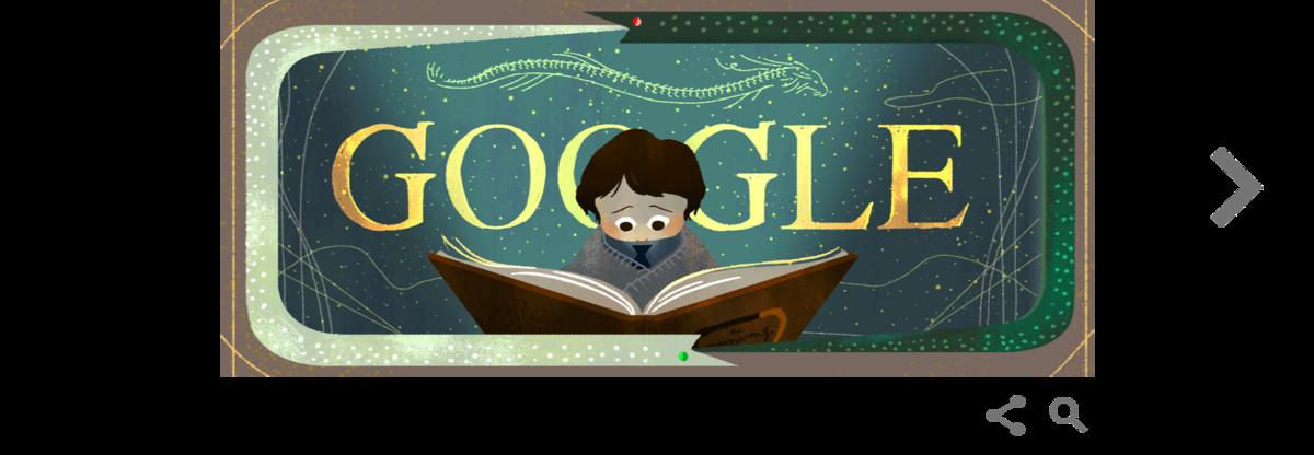 Doodle de Google de La historia interminable.