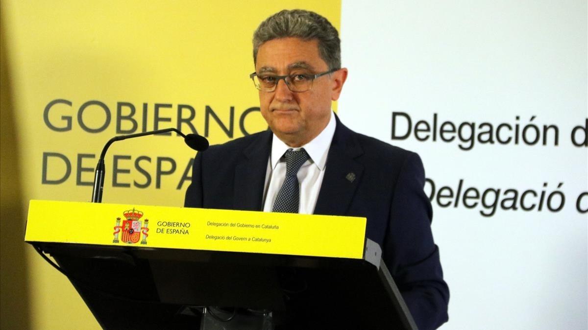 El delegado del Gobierno central en Catalunya, Enric Millo.