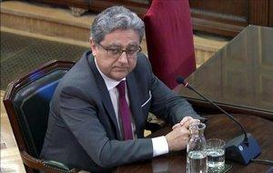 Enric Millo declara en el Tribunal Supremo en el juicio por el procés.