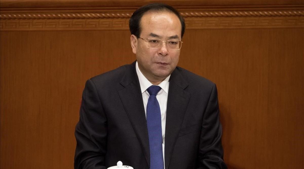 El exministro chino deSun Zhengcai, que ha sido condenado a cadena perpetua.