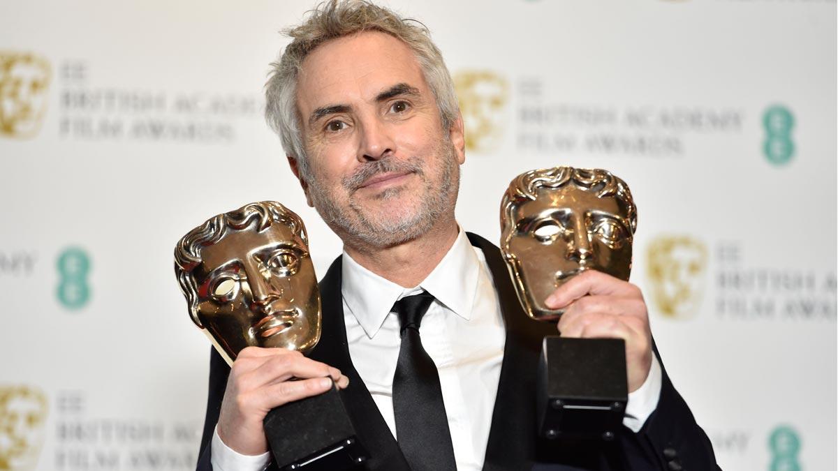La favorita y Roma, grandes vencedoras de los BAFTA. En la foto, Alfonso Cuarón.