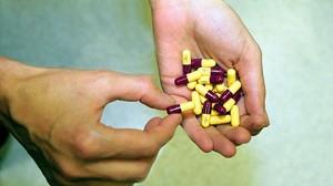 Cápsulas de un conocido antibiótico.