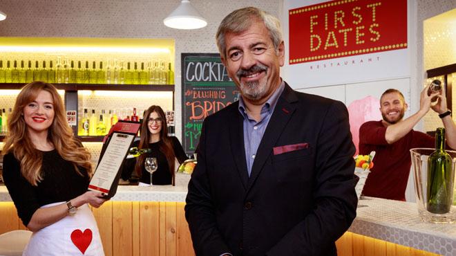 Video promocional de First dates, el nuevo programa de Carlos Sobera en la cadena Cuatro.