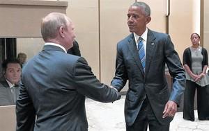 Frío saludo entre Obama y Putin,en una cumbre en Hangzhou (China).