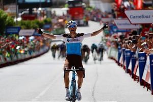 Tony Gallopin se proclama vencedor de la séptima etapa de la Vuelta, en Pozo Alcón.