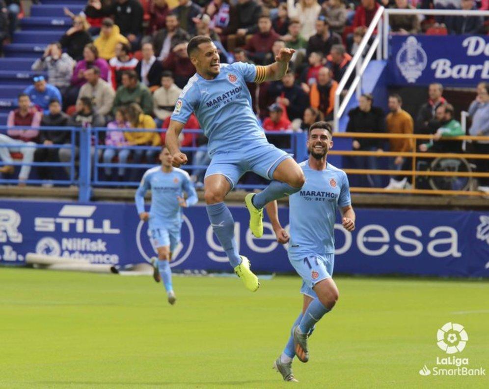 Granell celebra el primer tanto del Girona.