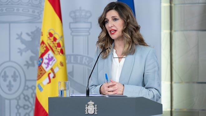 El Gobierno prohíbe despedir durante la crisis del coronavirus. En la foto, la ministra de Trabajo, Yolanda Díaz.