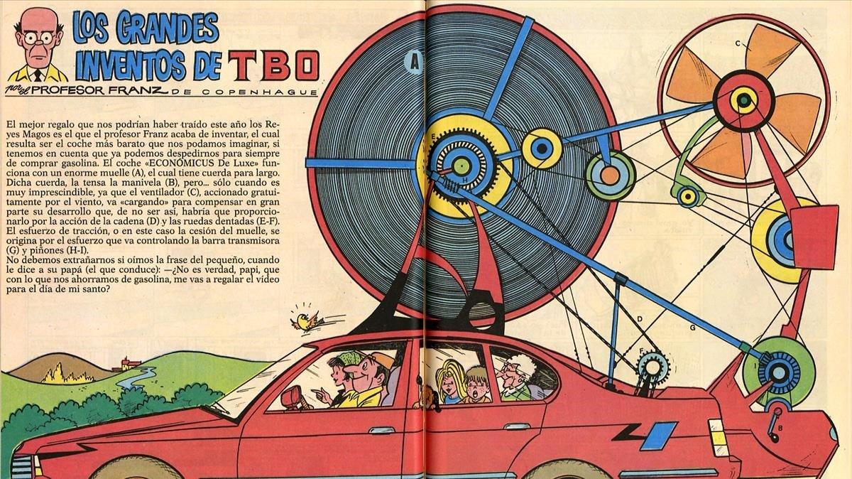 Ilustración de 'Los grandes inventos del TBO'.