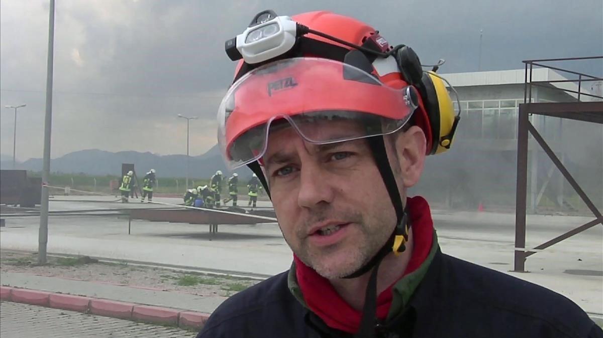 Imagen de James Le Mesurier captada de un vídeo, durante unos ejercicios de entrenamiento en el sur de Turquía en marzo del 2015.