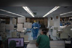 Una uci del hospital Germans Trias i Pujol, en Badalona.