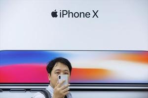 Presentación del un nuevo dispositivo de Apple ante los medios en Pekín, el pasado octubre.
